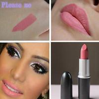 Wholesale lipstick brand 1pcs resale online - Hot famous brand Please Me Morange Pink Nouveau lipsticks makeup waterproof lipsticks cosmetic matte batom