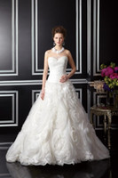 Wholesale Noble Strapless Sweetheart Red - 2016 New Arrival custom Sweetheart Noble Ball Gown Sweetheart Tulle Twinkle Tulle and Lux Organza Ivory Floor-length Wedding Dress