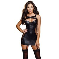 Wholesale Super Sexy Club Clothes - R7859 Price Promotions sexy dress 2015 new arrival black women clothing womens dresses high quality super deal new Leather dress