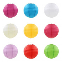 Wholesale chinese paper lanterns wedding - Mid Autumn Festival Paper Lanterns For Wedding Birthday Festival Party Decoration Lantern Chinese Style Many Colors 7 41pt8 C RZ