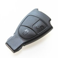 Wholesale Wholesale Benz Fob - High quality car replacement key case for Mercedes Benz 2 button remote key blank shell FOB key cover 10pcs lot free shipping
