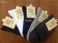 Wholesale classic dressing for men - Wholesale-2015 New Arrival Cotton Solid Color Classic Business Men's Sock Brand Casual Dress Mens Socks For