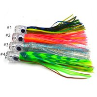 Wholesale marlin lures - 20pcs Marlin skirted game lure inch wahoo bait rubber saltwater fishing lure