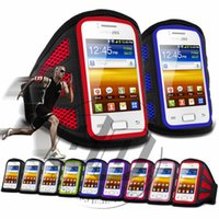 Wholesale Galaxy Y Phone - Wholesale-For Samsung Galaxy Y Duos I6102 High Quality Mesh BreathingCell Phone Running Sport GYM Jogging Armband Bags Cases Cover