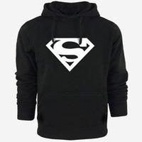 Wholesale Superman Long Sleeve Mens - 2017 hot sale Superman New Hoodies Men Brand Designer Mens Sweatshirt Men with Luxury Harajuku Sweatshirt Men Brand