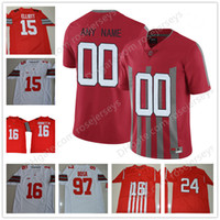 Wholesale number black diamond - Custom Ohio State Buckeyes 1917 Red Vintage Jersey Limited Playoff Special Event Diamond Quest White any number name George Johnson Griffin