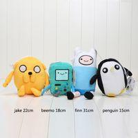 "Wholesale Teddy Time Toys - 120pcs lot Adventure time Plush Toys Jake Finn Beemo BMO Penguin 4styles Stuffed Toys 6""-11"""