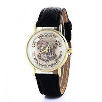 Wholesale Sweet Watches - Harry Potter Magic School Fashion Casual Belt Wristwatch New Simple Creative Sweet Lovely Quartz Wrist Watch