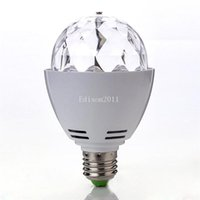 Hot Selling 3W E27 B22 RGB Iluminação Full Color LED Crystal Stage Luz Auto Rotating Stage Effect DJ Lâmpada Mini Stage Light Bulb
