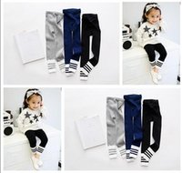 Wholesale Children Leggings Wholesale Stock - Baby Girl Tights Cotton Cute Children Stocking Baby Pantyhose For Kid Christmas Gifts 18 Styles DHL Free Shipping