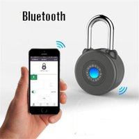 Wholesale IOS Android APP Control Bluetooth Smart Bicycle Lock Anti Theft Alarm Padlock for Cycling Motorycle Door Cabinet
