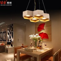 Wholesale Modern Minimalist Chandelier Free Shipping - Vintage Minimalist Solid Wood Ceiling Pendant Lamps Beehive Dining Room Light LED Study Bedroom Lights Chandeliers Free Shipping