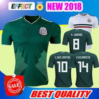 Wholesale M Homes - New Arrived 2017 2018 Mexico Soccer Jersey Home Away 17 18 Green CHICHARITO Camisetas de futbol Hernandez G DOS SANTOS football shirts