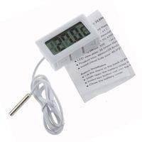 Wholesale Electronic Refrigerator - 100pcs LCD Display Car refrigerator aquarium fish tank embedded electronic digital thermometer