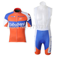 Wholesale Rabobank Bib Shorts - Wholesale-variety of styles RaboBank short sleeved cycling jersey and bib shorts set strap riding a bicycle sports wear free shipping