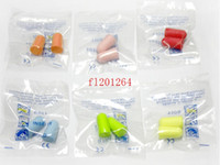 Wholesale Tapers Plugs Free Shipping - 600Pairs lot DHL fedex Free Shipping Soft Sponge Ear Plugs Tapered Travel Sleep Noise Prevention Earplugs