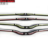 Black knight mtb bicycle flat handlebar mountain bike handlebar carbon cycling parts 31.8mm *740 720 700 680 660 640 620 600 580mm matte
