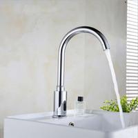 Wholesale Automatic Faucet Copper - Automatic induction faucet anto-sensor taps copper Automatic Sensor Faucet SF002