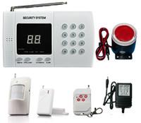 99 зональная сигнализация оптовых-Беспроводная охранная сигнализация 99 зон безопасности дома с автоматическим набором номера + датчик окна / двери + инфракрасный датчик обнаружения движения