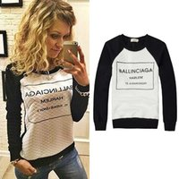 Wholesale new cashmere sweater xl woman - 2015 new summer dress with a long sleeved sweater cashmere trade small box printing letters T-shirt sweater