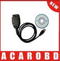 Wholesale Vag Commander Car - DHL Free Shipping !!! VAG K + CAN 1.4 OBD II OBD 2 USB Diagnostic tool Commander Car usb scanner auto diagnostic scanner