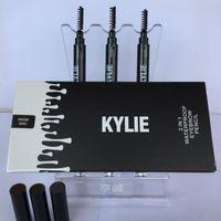 Wholesale soft eyebrow pencil - Kylie Jenner Eye Brow Pencil 2 in 1 Waterproof Eyebrow Pencil with Brush Eyeliner SOFT BROWN GRAY DARK BROWN
