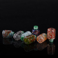 Wholesale aspire nautilus glass atomizer resale online - NEW ARRIVAL Most Beautiful Resin Glass Drips Tips Drip Tips Rich Styles fit Aspire Nautilus mini Arctic Tank RDA Atomizers Tanks