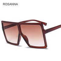 Wholesale lentes sol mujer - Rosanna Big Frame Square Sunglasses Women Brand Designer Men Vintage Male UV400 Sun Glasses Oculos De Sol Feminino Lentes Mujer YW162