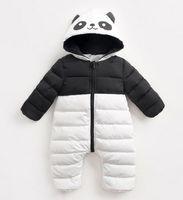 Wholesale Boys Snowsuit 12 - infant toddler clothes winter romper overalls hooded gilrs boys kids panada snowsuit coat jacket korean wholesale warm 1-2T 6-24 moths