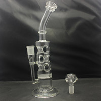 Wholesale faberge eggs resale online - Glass Water Bongs Honeycomb to Swiss Perc Faberge egg water Pipes oil rigs Glass Recycler mm Female joint