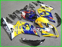 carenado k5 amarillo al por mayor-Kit de carenado de motocicleta amarillo para SUZUKI GSXR 1000 05 06 molde de inyección GSXR 1000 K5 2005 - 2006