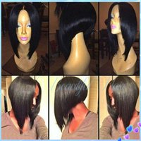 Black blonde hair pics - Virgin Brazilian Short human hair bob wig For Black Women Exactly Like the Pics Best Glueless Full Lace Wig Cheap Lace Front Wig