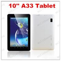 Wholesale Cortex Pc - 10 Inch Quad Core Tablet PC A33 X10 Android 4.4 1GB RAM 8GB ROM Wifi Dual Camera ARM Cortex A7 1.5GHz HD Capacity Screen Q10 10.1 10.2
