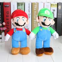 """Wholesale Luigi Plush New - Free Shipping 5 Lot New Super Mario Bros. Stand LUIGI Plush Doll Stuffed Toy 10"""" Retail"""
