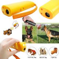 Wholesale Smallest Device - 2016 Hot Sale Dog Training Ultrasonic Device Anti Bark Barking Control LED Light Caravan AAA Free Shipping