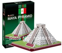 Wholesale Modelling Maya - Wholesale-Maya Pyramid CubicFun 3D educational puzzle Paper & EPS Model Papercraft Home Adornment for christmas gift