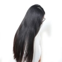Wholesale Glueless Lacefront Wigs - Malaysian Silky Straight Lace Front Wigs Glueless Human Virgin Silky Straight Lacefront Wig Long Silky Straight Full Lace Wig For Women