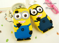 Wholesale Despicable Minion Silicone - New 3D Cute Cartoon Despicable Me Minion Soft Silicone Back Cover For Apple Iphone 5 5S 5C 6 Plus 4 4S Samsung Galaxy S3 S4 S5 Note 2 3 4 A2
