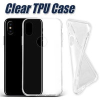 Wholesale Galaxy Clear - For IPhone X 8 Thick TPU Case Samsung Note 8 Cases Galaxy S8 Plus Clear Soft TPU Case High Quality 1.0mm Soft Transparent Gel Case OPP Bag