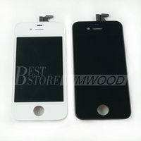 Wholesale Iphone Copy Parts - LCD Display Touch Screen Digitizer Full Assembly High Copy Top Quality For Iphone 4 4G Iphone 4S Replacement Repair Parts White Black