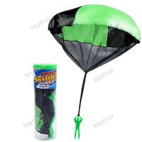 Wholesale Parachutes For Kids - Parachute with Figure Soldier Toy for Kids Children Outdoor Sport Color send random 00470