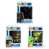 Wholesale Bobble Head Darth Vader - Funko Pop Star Wars Darth Vader Yoda Vinyl Bobblehead Boba Fett Figure Model Action Figure Vinyl Bobble-head Black Toy