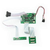 tablero de conductor de tft lcd al por mayor-VGA 2AV 50PIN TTL LVDS Controlador Controlador Módulo Kit de Monitor Kit para Raspberry PI 2 TFT LCD Panel de Pantalla DIY Monitor