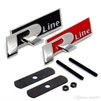 Wholesale R Line Jetta - FAST SHIPPING R line Metal 3D Front Hood Grill Badge Car Emblem stickers for VW Golf 6 Jetta MK5 MK6 POLO passat B5 B6 B7