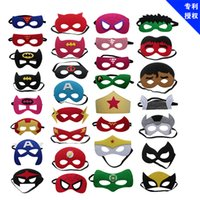 Hot 10pcs / set Creativo Cartoon Super Hero Masquerade Maschera Festa dei bambini per feste Natale Maschera di Halloween