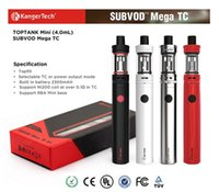 Wholesale E Cigarettes Refills - 100% Authentic Kangertech SUBVOD Mega TC starter Kit 2300mAh Battery 4.0ml Kanger Top Refilling Tank Atomizer subvod E cigarette vape pen