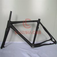 WT-C837 Ciclo Cross Disc Road Bike Frame, Full Carbon Fiber Frame, Frame + Fork + Seat Post + Headset + Clamp, Tamanho 52/55 / ​​58cm