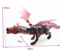 Wholesale Toys Dinosaurs Dragon - Wholesale-Limited version Dinosaur Cute Fiery Dragon, Simulation Electric Toys Early Development Toys Have Sound, Lighting, Can Walk
