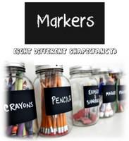 Wholesale Wholesale Notepads Pen - Wholesale-64Pcs Chalk Pen Chalkboard Sticker Labels Vinyl Kitchen Jar Decor Decals 9CM X 5.5CM