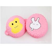 Wholesale wholesale hot monkey - Hot Jumbo Kawaii Squishies Strawberry Cake pink rabbit cake pink monkey cake Slow Rising Toys Soft Squishy Squeeze Kid Christmas Toy Gift
